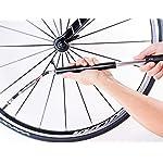 PRO-BIKE-TOOL-Bike-Pump-con-manometro-Adatto-a-Presta-e-Schrader-Gonfiaggio-accurato-Mini-Pompa-per-Pneumatici-per-Biciclette-da-Strada-e-BMX-Alta-Pressione-100-PSI-Include-Il-Kit-di-Montaggio