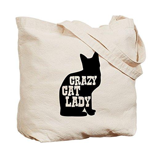 Bandolera Cafepress Caqui Lady Lona Crazy Medium Bolso Cat wIrSfxI