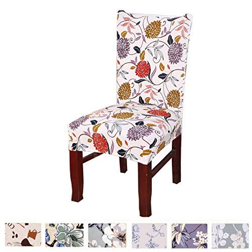 Argstar 4 Pack Chair Slipcovers for Dining Room Spendex Covers