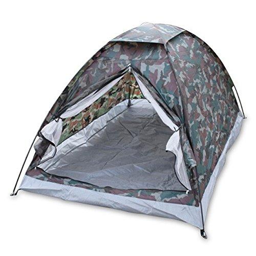 YOPEEN Im Freien tragbares Tarnungs-Strand-Zelt-Campingzelt für 2 Person-Einzelne Schichtpolyestergewebe Zelte PU1000mm Tragen Taschen-Reise