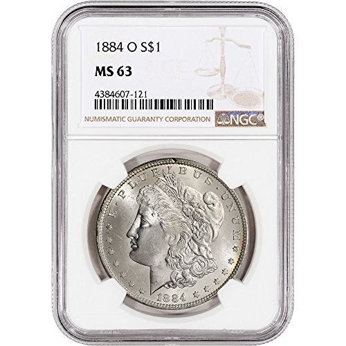 1884 O US Morgan Silver Dollar NGC Large Label $1 MS63 NGC 1884 Dollar Coin
