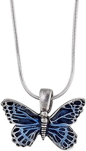 5 Silver Tone Lead-Free Pewter Charms Medium Butterfly