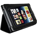 IMAGE Full Screen Touchable Leather Cover Case for Barnes and Noble Nook Tablet Nook Color with Stand Black