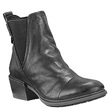 Timberland Women's Sutherlin Bay Chelsea Boot, Black Full Grain Leather, 085M M US
