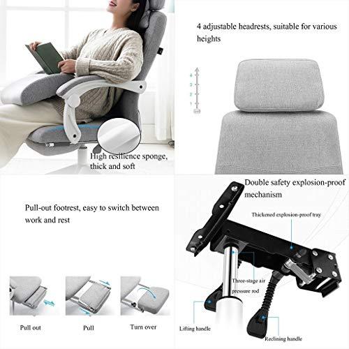 YYL kontorsstol kontorsstol, ergonomisk skrivbordsstol dator nätstol justerbar höjd och svängbar stol med pedaler svängbar stol