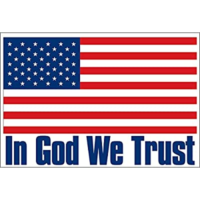 USA Flag: in God We Trust Sticker (Bumper Police America Patriotic Christian): Automotive [5Bkhe0903941]