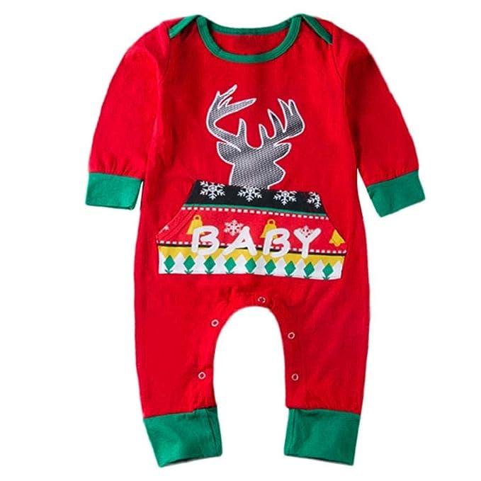 6e58d300251670 VICGREY Bambino e Ragazzi Ragazza Top Pantaloni Neonato T-Shirt Felpa  Stampa Cervi di Cartone