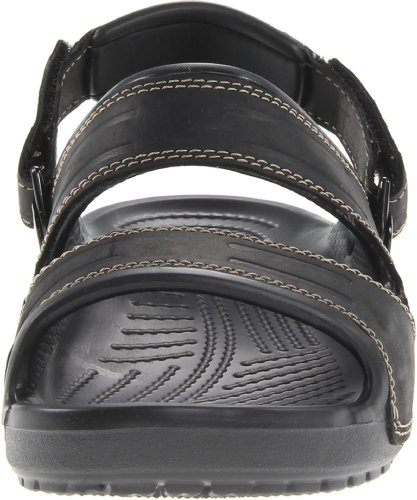Crocs Mens Yukon Double-Strap Sandal Black/Black fI5OfL