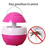 EnjoCho Mosquito Killer, Mosquito Pest Control Tool,1PC USB Plug Retractable Suction Mosquito Lamp Electric Fly Bug Zapper Mosquito Insect Killer LED Light (Pink)