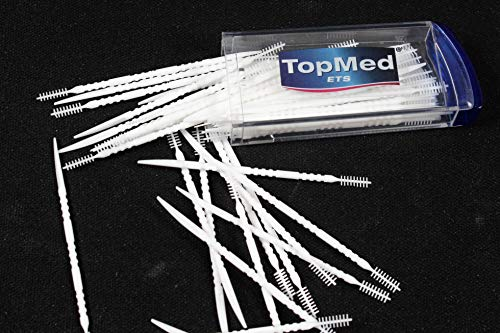 Oral Care Dental Brush Teeth Pick Plastic Teeth Floss Toothpick With a mirror 200 Count (4 BOX X 50 - Floss Toothpick