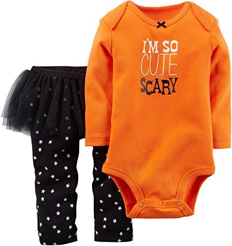 Carters Baby Girls Halloween Bodysuit & Tutu Set So Cute Orange 6M