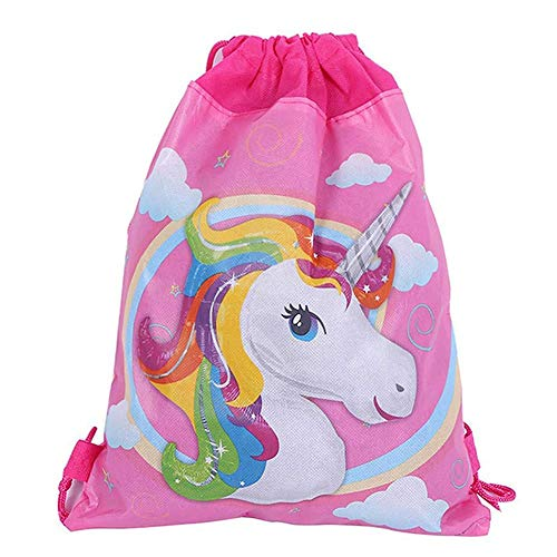 12 Pack Unicorn Party Bags Drawstring Gift Goodies