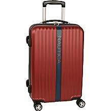 "Nautica Surfers Paradise 21"" Hardside Spinner Carry On Luggage, Burgundy/Navy"
