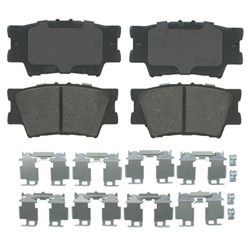 Wagner QuickStop ZD1212 Ceramic Disc Pad Set Includes Pad Installation Hardware, Rear (Rear Installation)