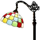 Tiffany Style Reading Floor Lamp Table Desk Lighting Tartan Design W12H64 E26