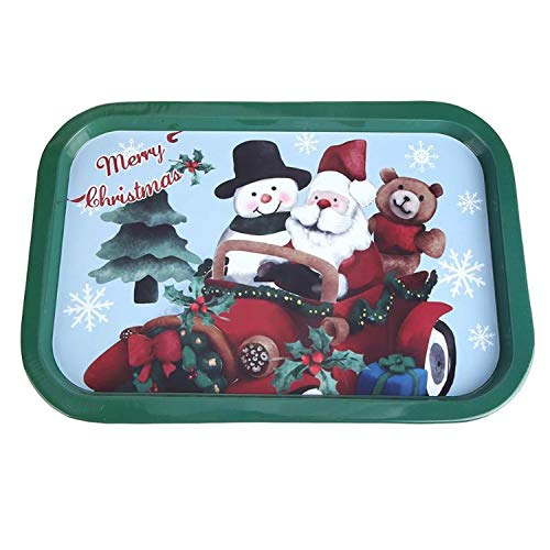 Creative Cute Christmas Tin Dish Tableware Food Dinner Plate Gift 6styles Christmas kitchen ornaments 2019 new Year decoration,6