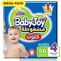 BabyJoy Culotte Pants Diaper, Size 4, 56 Count, 9 - 14 kg