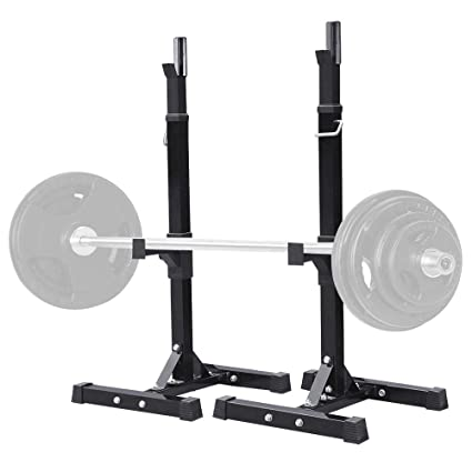 Amazon.com : yaheetech pair of adjustable squat rack standard solid