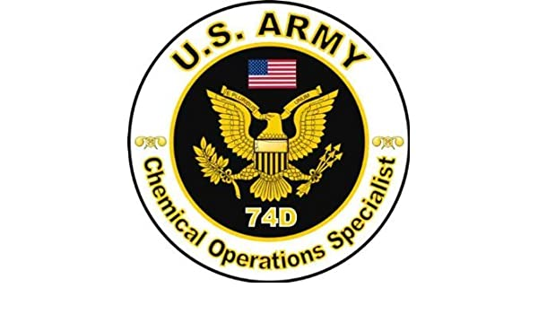United States Army MOS 74D Chemical Operations Specialist Decal Sticker 3 8