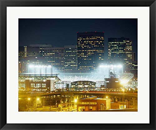 Coors Field, Denver, Colorado by Panoramic Images Framed Art Print Wall Picture, Black Frame, 30 x 25 inches