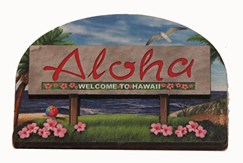- Hawaii State Welcome Sign Wood Fridge Magnet 2