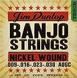 Dunlop DJN0930 Banjo Strings, Nickel, Tenor, .009-.030, 4 Strings/Set