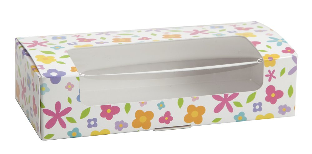 Spring Floral Auto Bottom Box (250, 1 lb with Window)