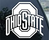 Rico Industries - Ohio State Buckeyes Window Graphic Decal (5'' x 6'', White)