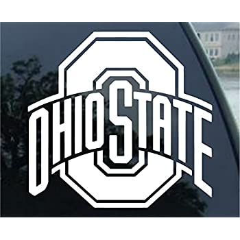 Ncaa ohio state buckeyes 8x8 white logo decal