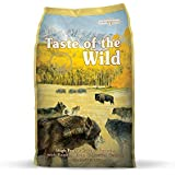 Taste of the Wild High Prairie Grain Free High Protein Real Meat Recipe Natural Dry Dog Food with Real Roasted Bison & Venison 30lb