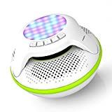 COWIN IPX7 Floating Waterproof Bluetooth Speaker Portable Wireless Shower Speakers for Swimming Pool with Colorful LED Light and 10W Plus Deep Bass