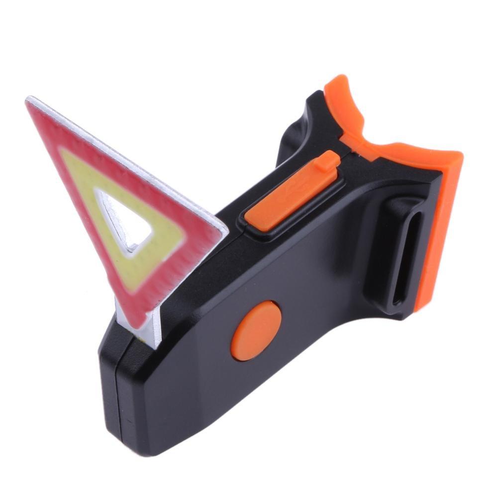nelnissa carga USB bicicleta luz trasera de relieve COB l/ámpara cuentas ciclismo luz de advertencia