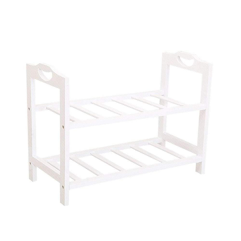 GY Practical shoes Rack-Flat Multi-Layer shoes-shoes Cabinet Storage Cabinet Solid Wood Cabinet Tower Space Saving Storage Design-White  +-+