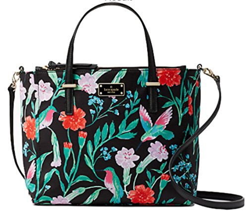 Kate Spade Wilson Road Hummingbird Floral Alyse Satchel Hand Bag by Kate Spade New York