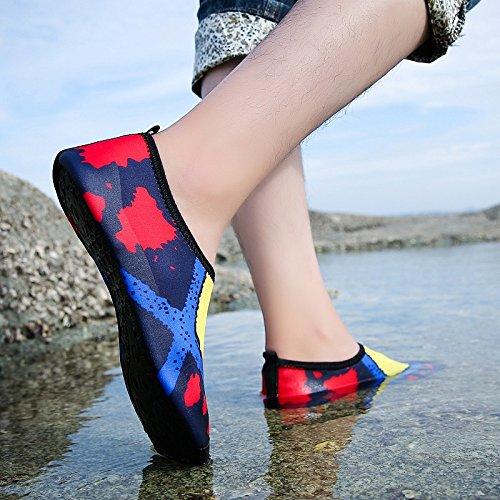 esquí natación piel de light blanco Skid Anti en calzado cuidado acuático transpirables la negro SX Ultra 3 y playa de zapatos zapatos Lucdespo q4Pza