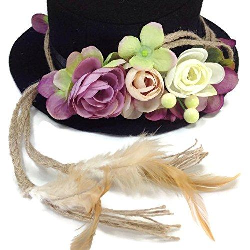 Fascinator Feather Headband Bohemian Tassels Headwear : SP8 (Purple)