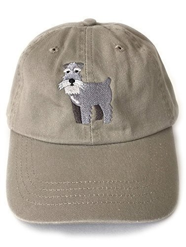Schnauzer Men Women's Baseball Cap Khaki 6 Panel Wide Brim ()