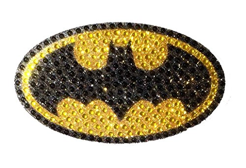 - DC Comics CH BAT LOGO001MD Medium Crystal Studded Batman Bling Logo Car Window Sticker Decal