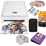 Kodak Mini2 Instant Photo Printer (White) Gift Bundle + Paper (20 Sheets) + Deluxe Case + 7 Fun Sticker Sets + Twin Tip Markers + Photo Album + Hanging Frames