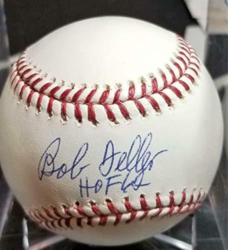 Bob Feller HOF '62 d.2010 Signed OAL baseball Autographed auto BAS HOFer Indians - Beckett Authentication Bob Feller Signed Baseball