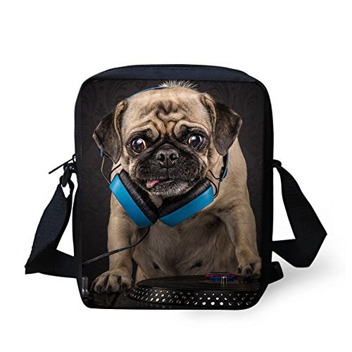 Cell HUGS Travel Phone Kitten Strap Casual Messenger Pug2 IDEA Adjustable Mini Shoulder Purse Handbag Crossbody Bag wBxqUSPRw