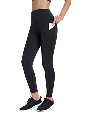 40bd9cbd83ed5 Amazon.com: Joyshaper High Waisted Leggings with Pockets for Women Active  Workout Running Yoga Pants Gym Tights: Clothing