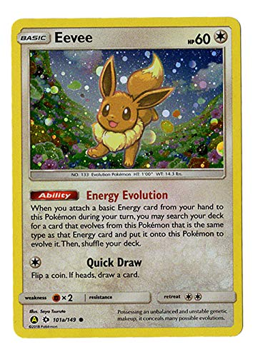 Eevee 101a/149 - Sun Moon Promo Alternative Art - Pikachu & Eevee Pokeball Collection Promo - Holo Card