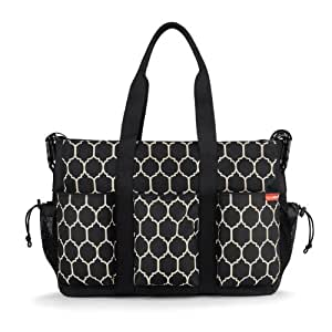 Skip Hop DUO DOUBLE hold-it-all diaper bag, Onyx Tile (Discontinued by Manufacturer)