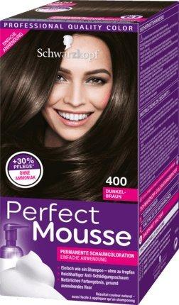 Schwarzkopf Perfect Mousse Permanent Hair Color 400 Dark Brown -