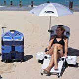 LoungePac Beach Chair with Umbrella and Optional Speakers