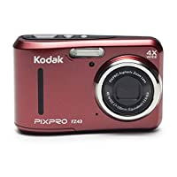 Kodak PIXPRO FZ43 Digital Camera (Red) + 16GB Memory Card + Deluxe Point and Shoot Camera Case + Extendable Monopod + Lens Cleaning Pen + LCD Screen Protectors + Table Top Tripod – Top Valued Bundle from Kodak