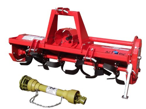 3pt Rotary Tiller Accubic#rta56, Cat1, 56in.working Width, Gear Drive, 36 Blades, Offset, Slip Clutch PTO by ACCUBIC