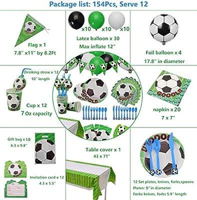 Amazon.com: PIXHOTUL suministros para fiesta de fútbol ...