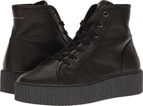 Platform Top High Maison Womens Margiela Black MM6 Leather 4xwTqaCCt